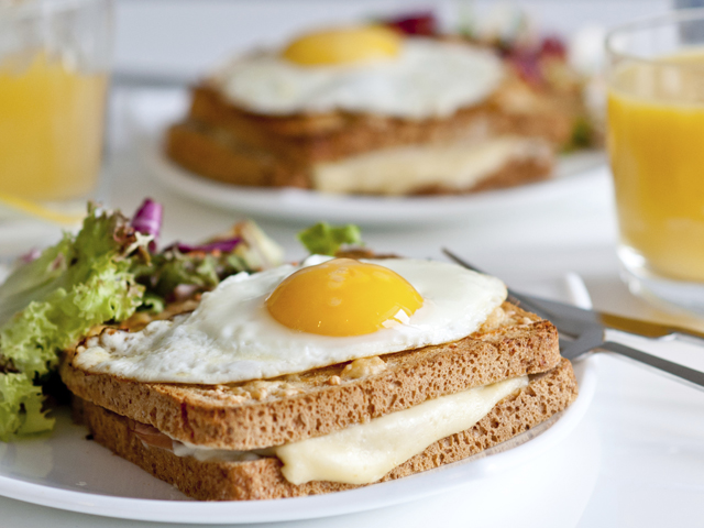 Croque madame - traditional French breakfast